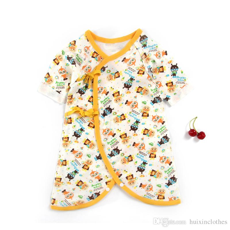 96836d6e4 New Born Pure Cotton Cartoon Printed Jumpsuits Long Sleeve Baby ...