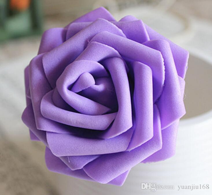 10 개 색상 8CM 인공 장미 꽃 웨딩 신부 꽃다발 PE 폼 DIY 홈 인테리어 장미 꽃 G1129