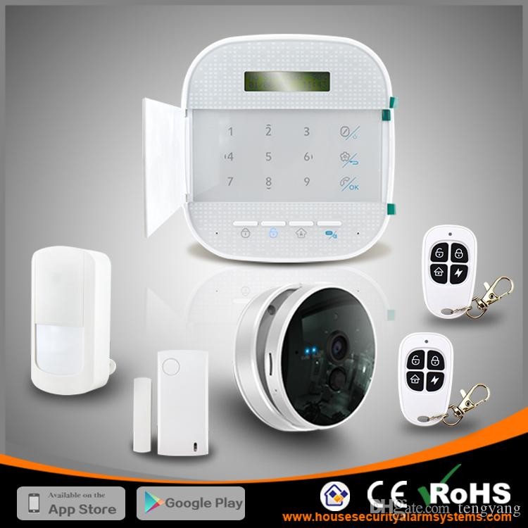 Perfect Combine WIFI GSM Wireless House Alarms Systems Home Burglar Security With IP Camera By DHL Free Alarm Monitoring From