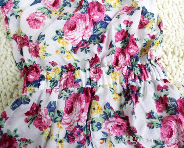 Mädchen Hose aus 100% Baumwolle Zwillinge Hosen-Baby-Kleidung-Mädchen-Overall Kinderkleidung Blumen-Druck-Sommer-Outfit Kinder Strumpfhose