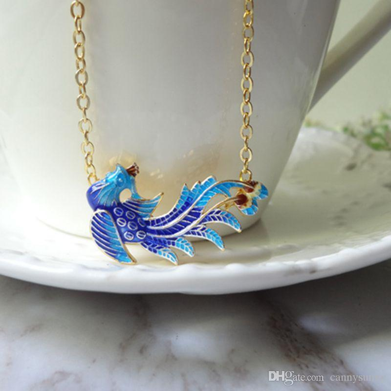 Wholesale cloisonne burn blue gold plated phoenix pendant necklace wholesale cloisonne burn blue gold plated phoenix pendant necklace 0329 owl pendant necklace silver heart pendant necklace from cannysunny 1306 dhgate aloadofball Images