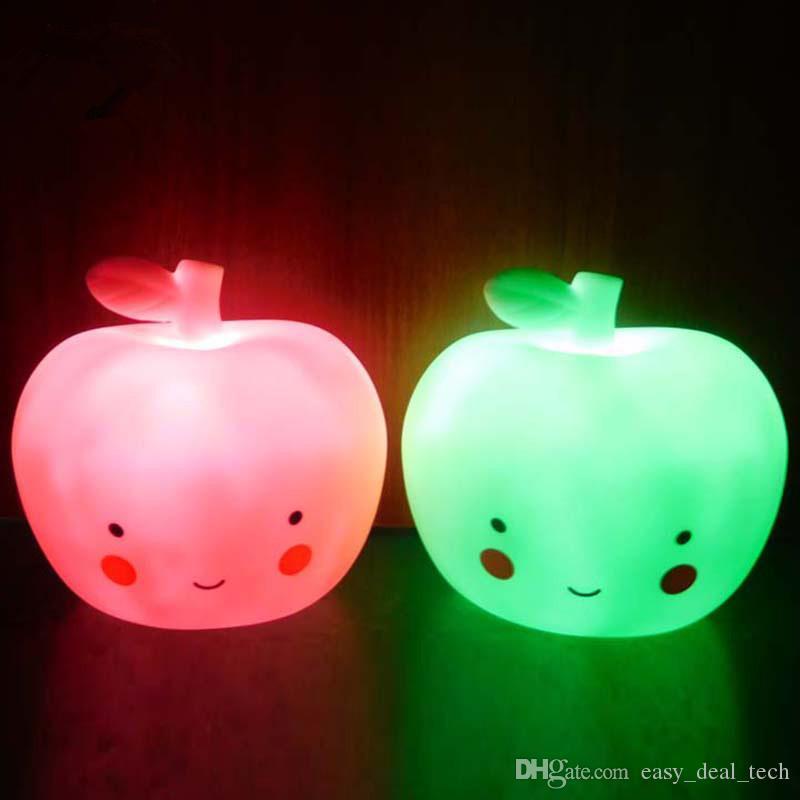 Décoration Q0190 Enfant Creative Light Belle Cadeaux Noël Apple Chambre Led Chevet Table Lune Lumière De Bébé Pour Enfants Lampe Night 8mNv0wOn