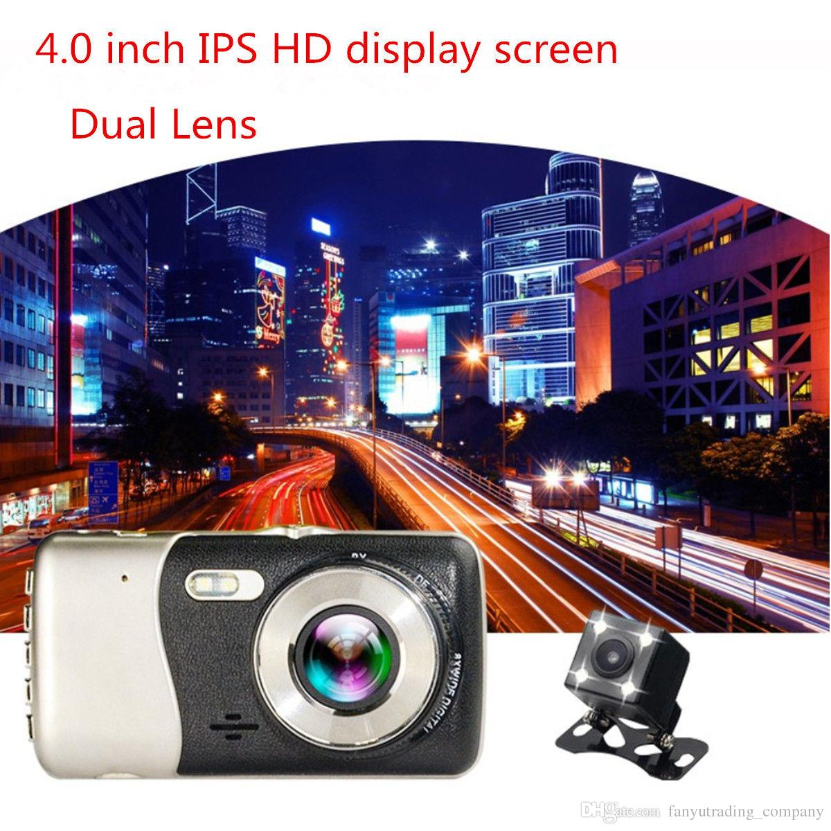 "4"" 1080P 170° Dual Lens Car H30 Video Recorder Full HD LED Night Recorder Dashboard Vision Motion Detection Camera Car DVR video Registrator"