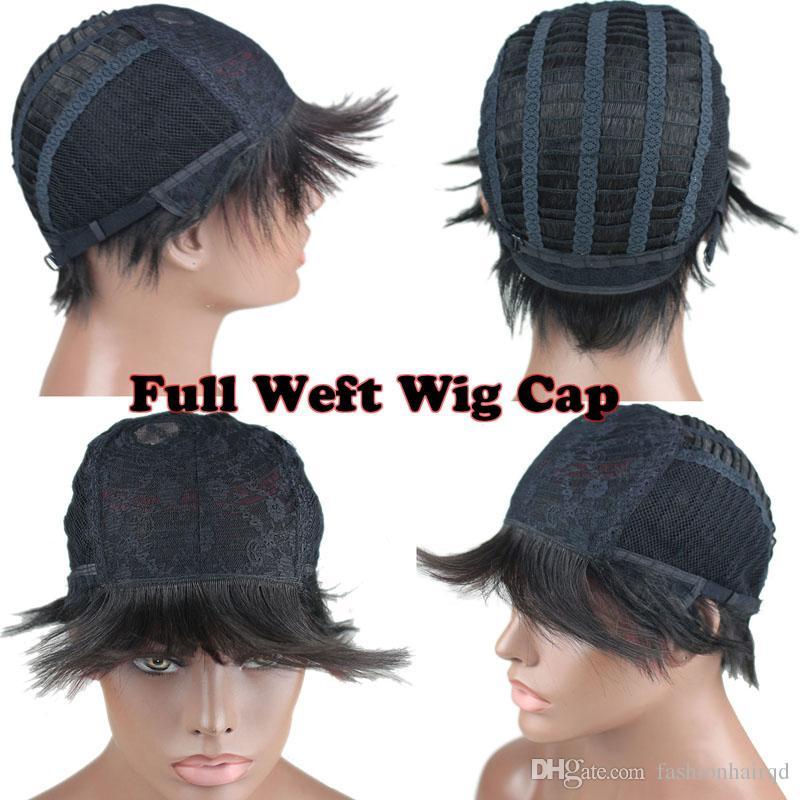 Ombre Short Bob Human Hair Wigs For Black Women Two Tone Brazilian Virgin Hair Short Machine Made Wigs