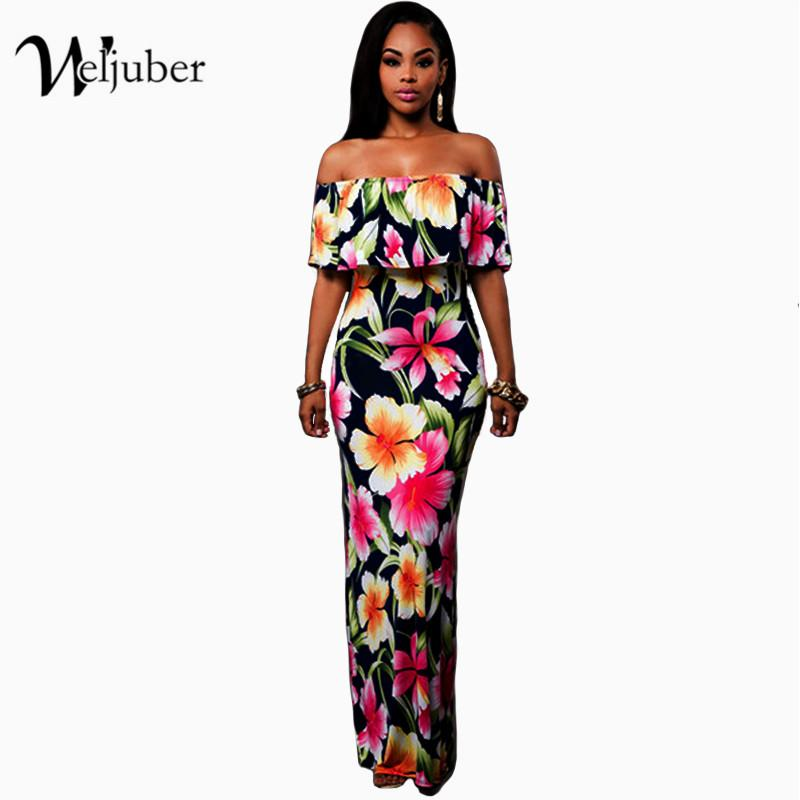 3d31e9ace89c9 Wholesale- Women Boho Maxi Dress 2017 New Spring Summer Style Off ...