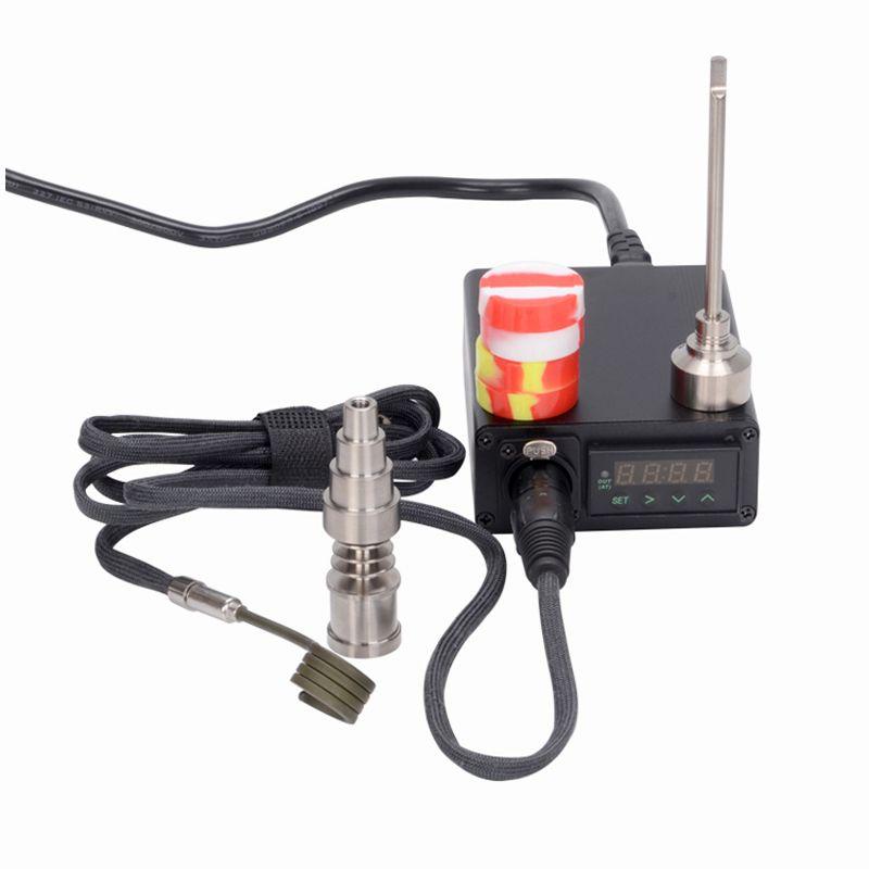 Portable dab rig electric dab nail Enail dabber nails quartz & titanium nails domeless 16mm 20mm coil heater glass water bong