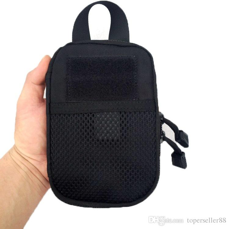 Outdoor sport bags 1000D Nylon Tactical EDC Molle Pouch small Waist Pack Bag Pocket for Iphone 6 7 for Samsung