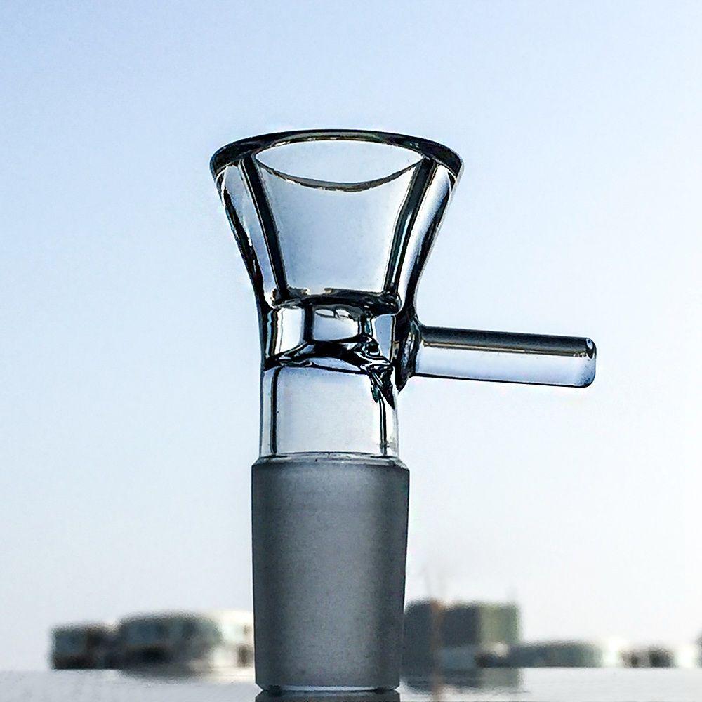 Прямая трубка Бонг 14 дюймов льда Pinch стекла Bongs Stereo Matrix Проц Dab Рог спеченного диска стекла водопроводы Боул WP296