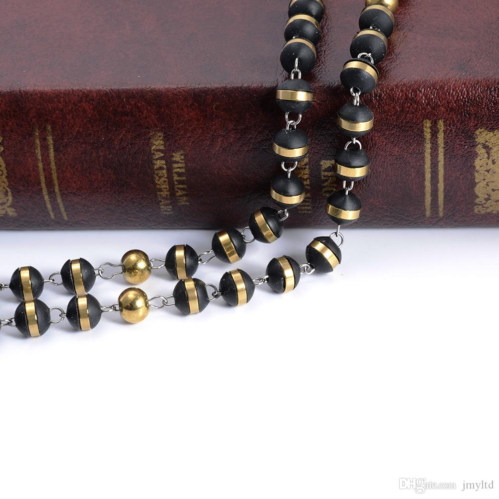 The Noble Cross Necklace Christian Act The Role Ofing Is Tasted Bead Rosary Necklace Fashion Jewelry