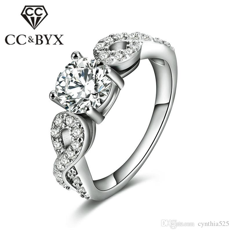 2018 Cc Jewelry Wholesale Hot Sale White Gold Color Wedding Party