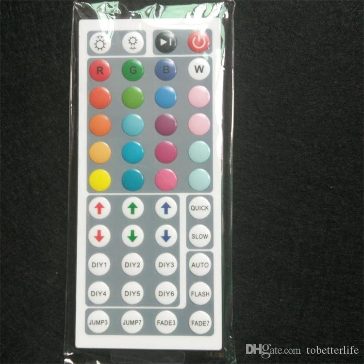 10 pezzi DC12V 6A Mini controller led RGB con 44 tasti IR telecomando Dimmer wireless strisce LED 5050 3528 modalità 34