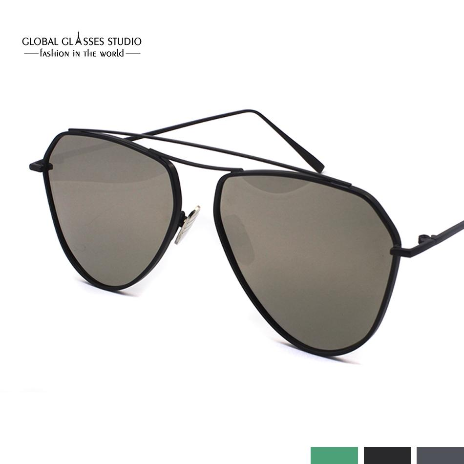 ff608f196a4 New Fashion Lady Frame Unique Geometry Sunglasses Classic Brand Designer  Twin-Beams Glasses Coating Mirror RST004 Free Shipping Sunglasses Mirror  Online ...