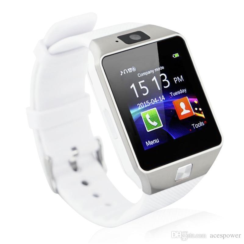Carte SmartWatch DZ09 Smart Watch SIMP Caméra SIM pour téléphones Android Les montres de téléphone mobile intelligents peuvent enregistrer l'état de veille avec un emballage