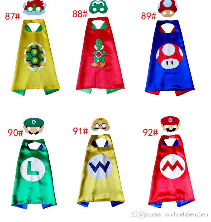 23bb8ee58a5 6design Super Mario Bros Yoshi Koopa of Children Cape   Mask L70 W70CM  Double Side Cape + Mask Set Super Mario Capes Cosplay Capes Children Cosplay  Online ...