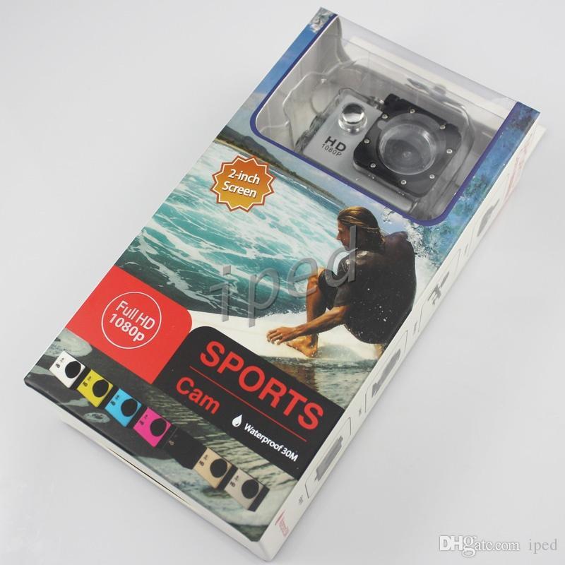 أسلوب SJ4000 رخيصة A9 2 بوصة شاشة LCD كاميرا صغيرة للتصوير كامل 1080p HD العمل 30M للماء كاميرات SJcam خوذة الرياضة DV