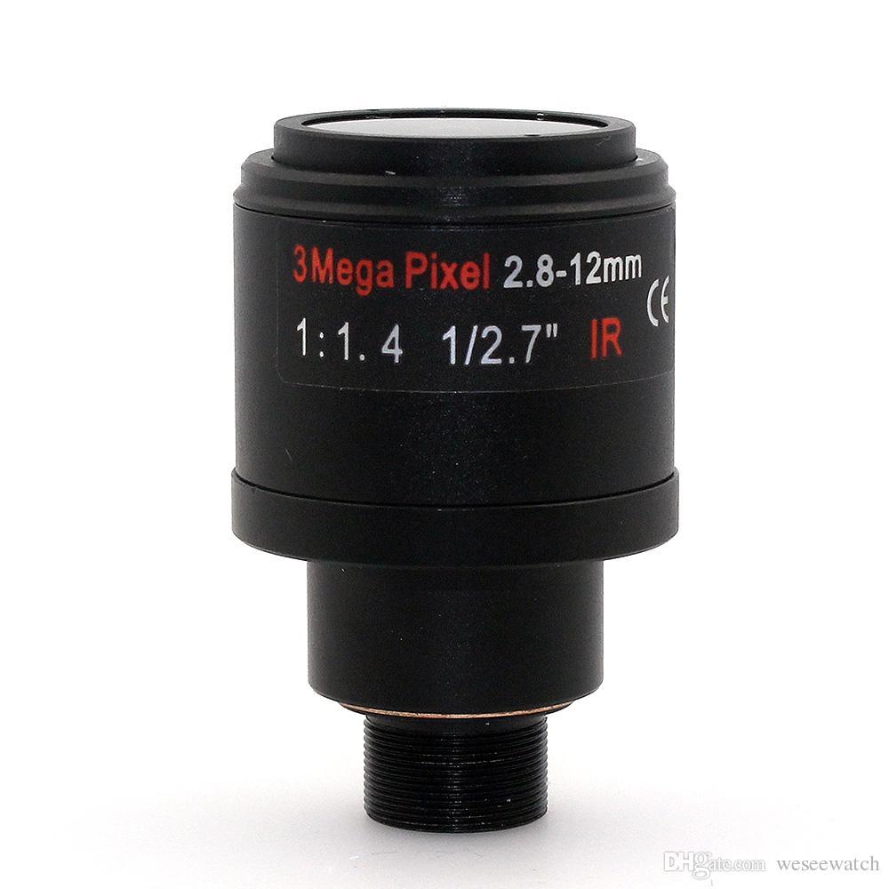 HD 3MP 2.8mm-12mm Manual Focal Zoom MTV 2.8-12mm Lente CCTV 3.0 Mega pixel para Câmera de Segurança Lense