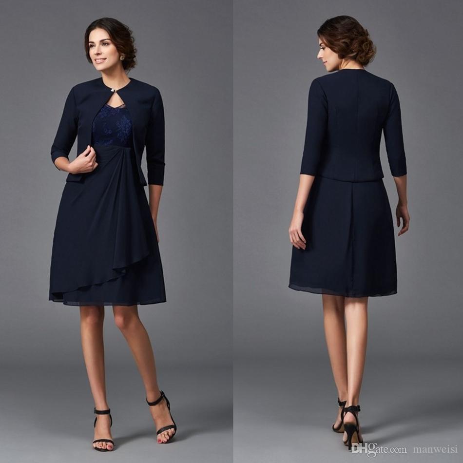 Großhandel Plus Size Navy Blue Mutter Der Braut Kleider Für ...