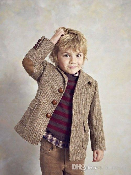 927f6c6fa6c31 2017 New Herringbone Harris Tweed boys wedding suits Vintage Brown Boy  Tuxedos Three Button Children Suit Wedding Prom Suits (Jacket Only)