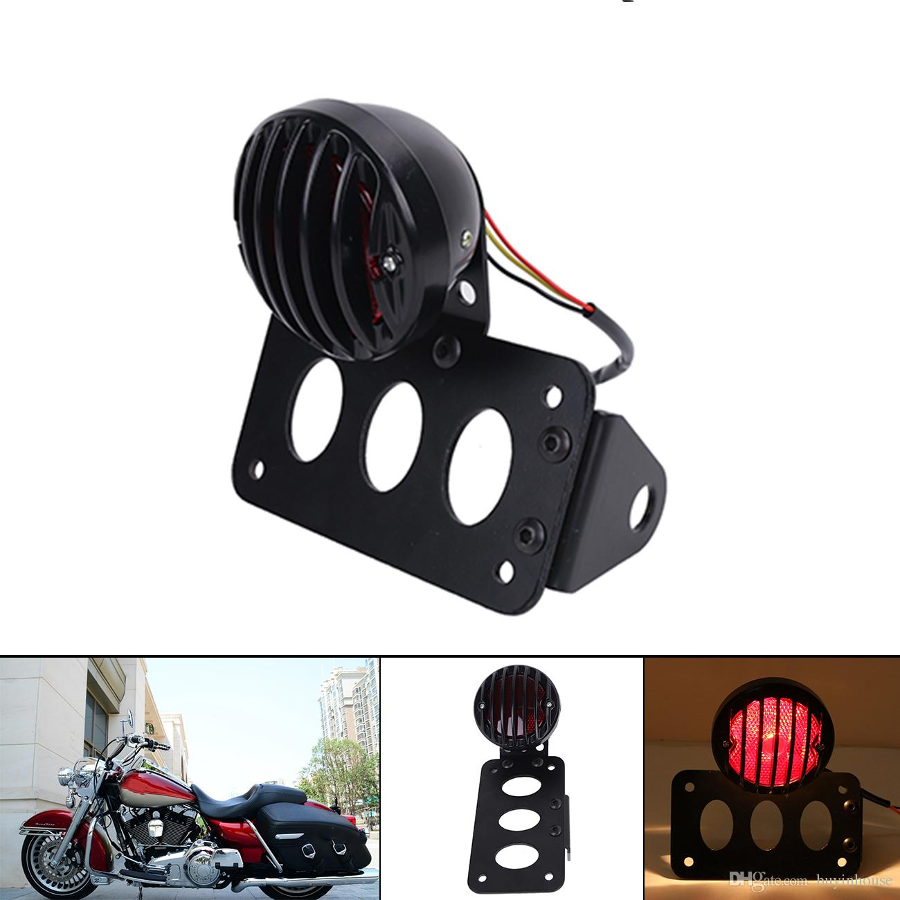 Automobiles & Motorcycles Electric Vehicle Parts For Motorcycle Harley Chopper Bike Cross Rear Tail Brake License Plate Led Light