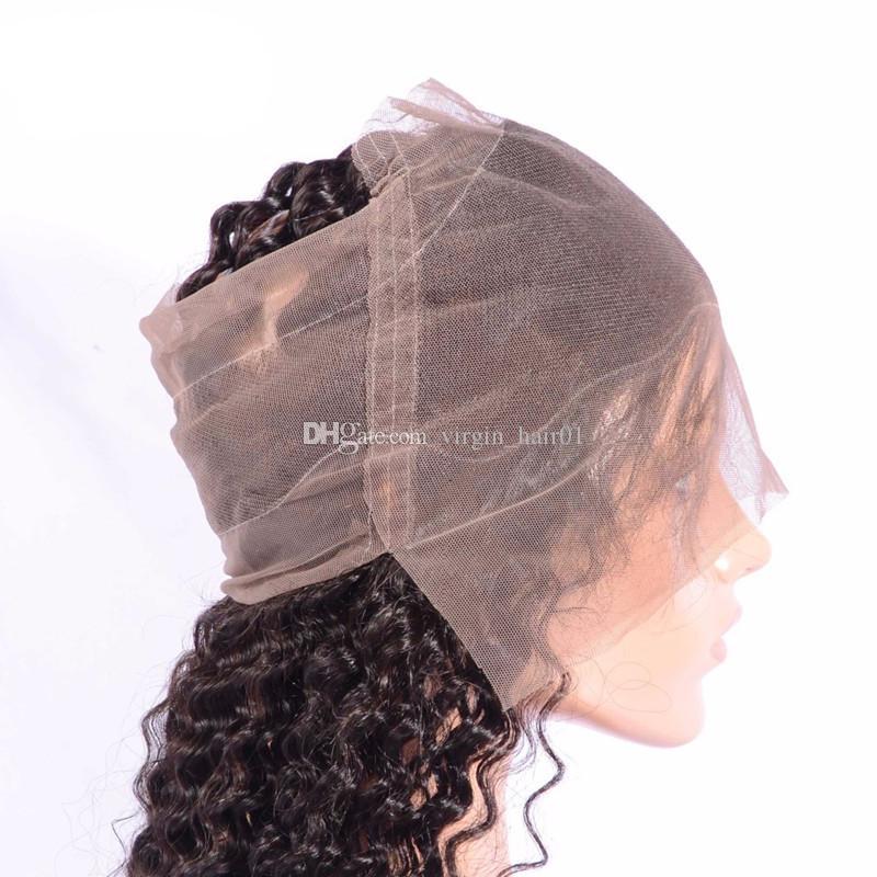 9A chiusura frontale brasiliana ondulata profonda del merletto 360 con i capelli umani dell'onda di acqua dei pacchi con 360 chiusura frontale completa della fascia del merletto