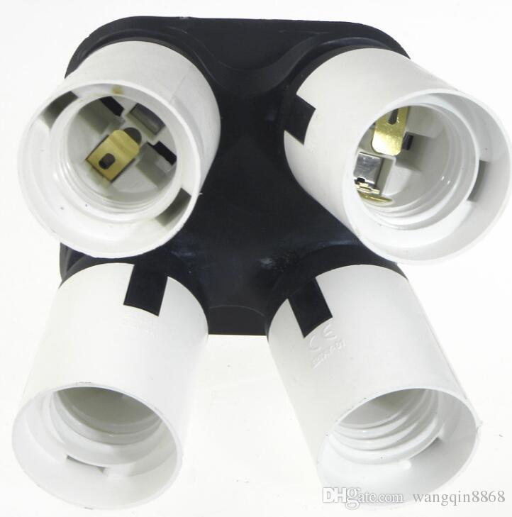Flashpoint 4 Socket Adapter 4 em 1 conversor de suporte adaptador de soquete, lâmpadas padrão Splitter de soquete para foto estúdio de foto, WO