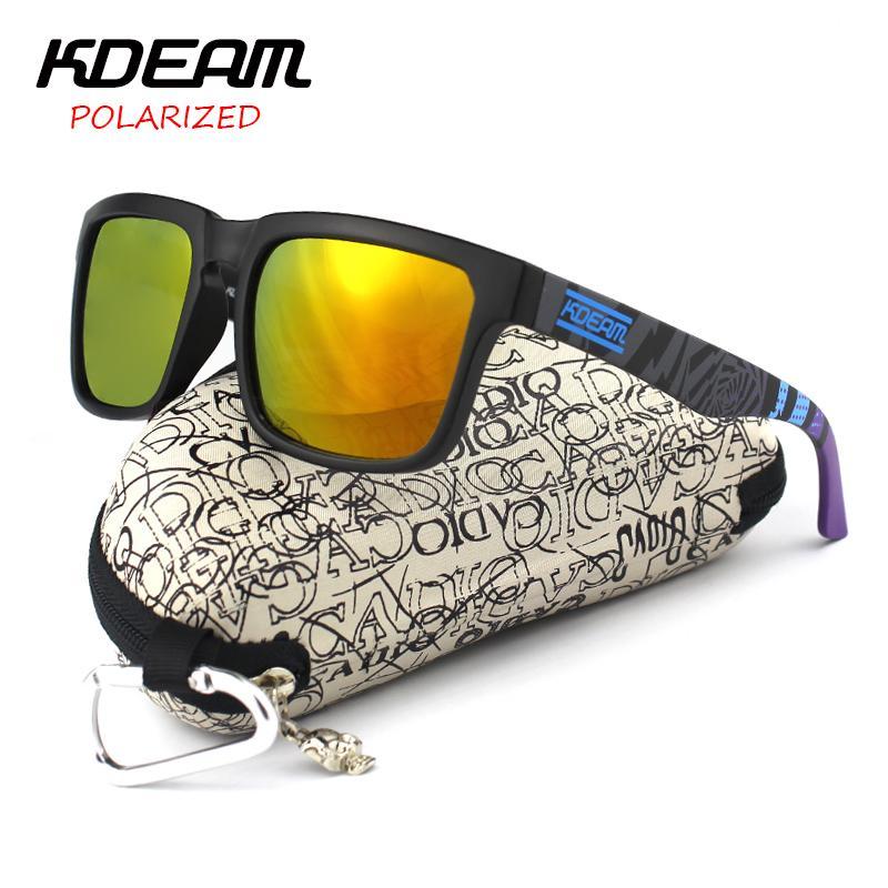 Compre Al Por Mayor Kdeam Gafas De Sol Polarizadas Hombres Deporte Gafas De  Sol Polaroid Lente Mujeres Diseñador De La Marca Gafas Cuadradas Con El  Caso ... 4c7573f61757