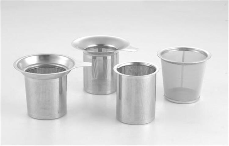 Neu kommen Edelstahl-Ineinander greifen-Tee-Infuser-wiederverwendbares Sieb-loser Tee-Blatt-Filter DHL FEDEX frei an