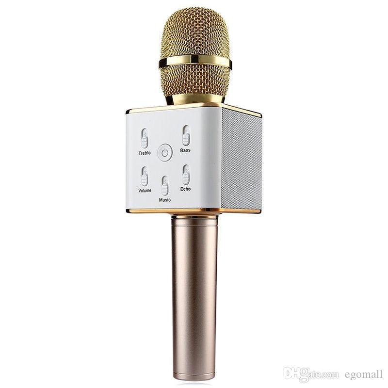 Altoparlante senza fili del microfono del bluetooth di vendita calda Q7 con l'altoparlante di karaoke della batteria di grande capienza 2600mAh DHL libero