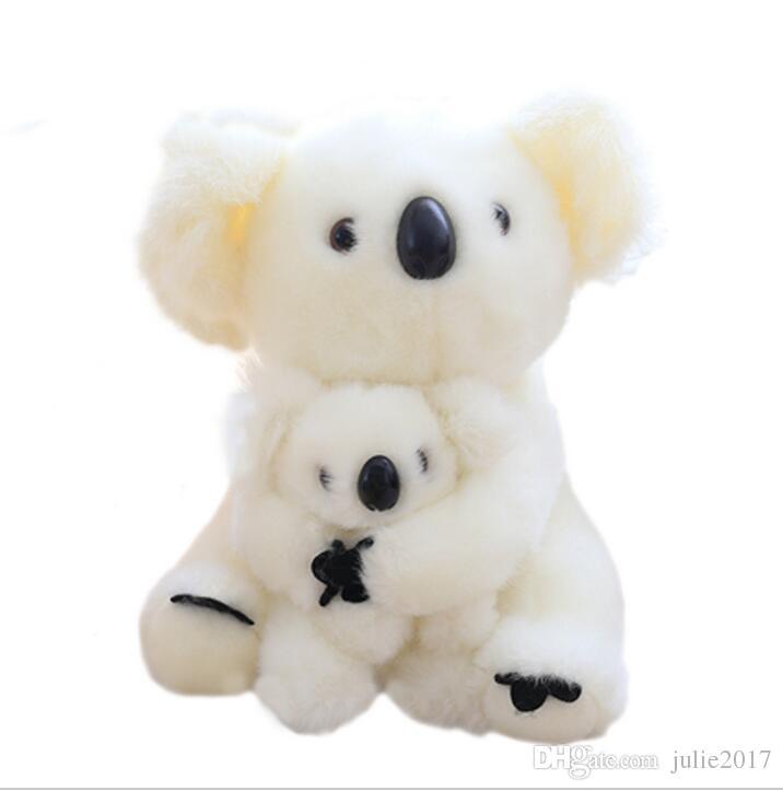 28CM Super Cute Sitting Mother and Baby Koalas Plush Toys Stuffed Koalas Dolls Kawaii Kids Toys Soft Pillow Lovely Birthday Gift
