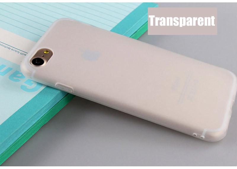 Alta Qulity TPU caja del teléfono mate color sólido cubierta para iphone7 7 plus 6 6 s 6 plus Frosted Candy Color suave teléfono contraportada para 5 5s 5se