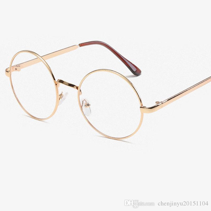 2018 New Fashion Vintage Round Eyeglasses Frame Metal Frame Glasses ...