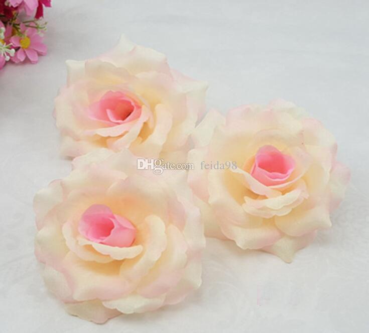 rose 10cm Artificial fabric silk rose flower head diy decor vine wedding arch wall flower accessory Free freight