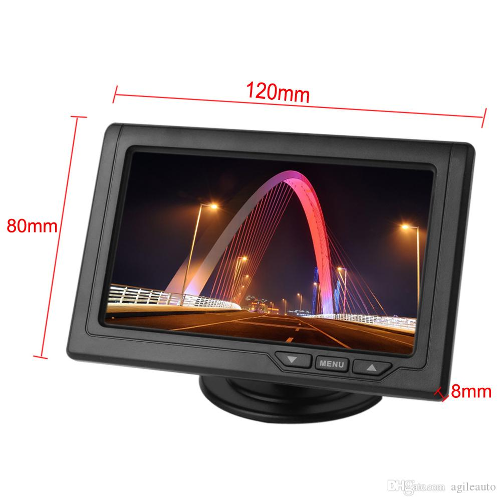 4.3 Inch Car Rear View Monitors Color TFT LCD Screen 2-Channel Video Input Support Multi-role Display CMO_332
