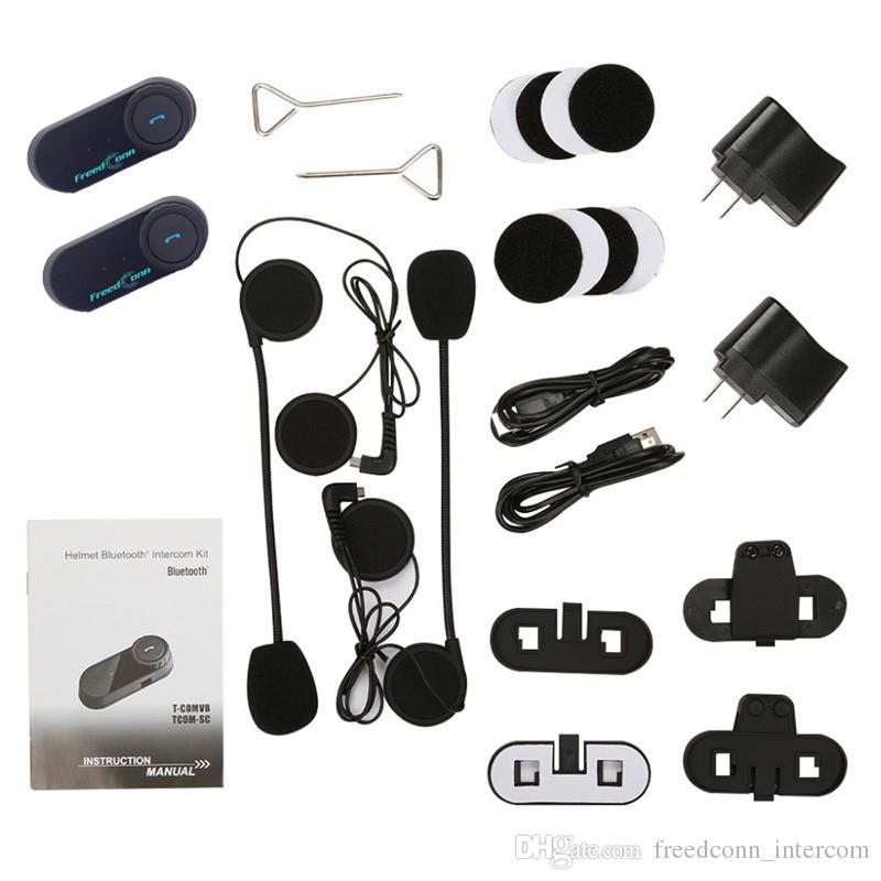 FreedConn / Set Moto Bluetooth Casque Interphone Stéréo HandFree Casque Étanche 1000m BT Sans Fil Casques Intercom Casques