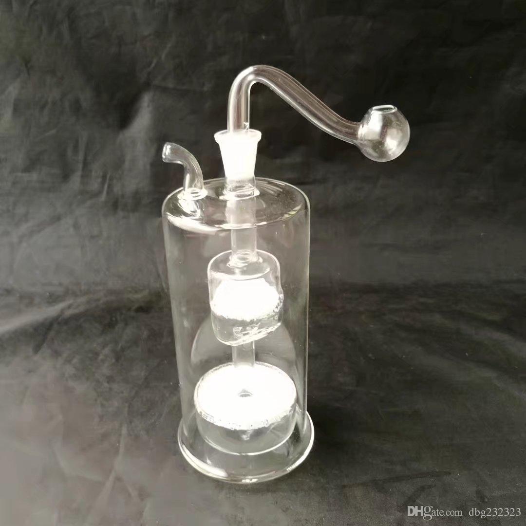 bongs accesorios espaguetis, cristal del tubo de agua Tubos Tubos percolador de cristal Bongs quemador de aceite Agua plataformas petrolíferas fumadores con cuentagotas fumadores