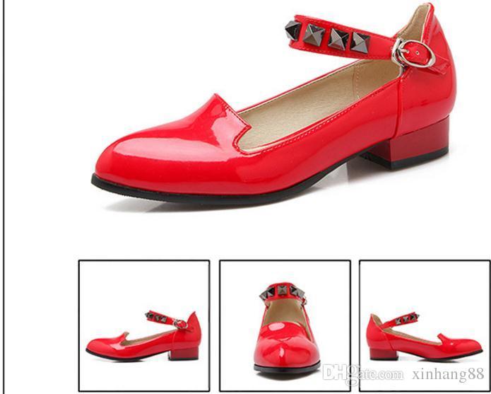 2016 einzelne Schuhe Weibliche spitze Schuhe mit niedriger Ferse