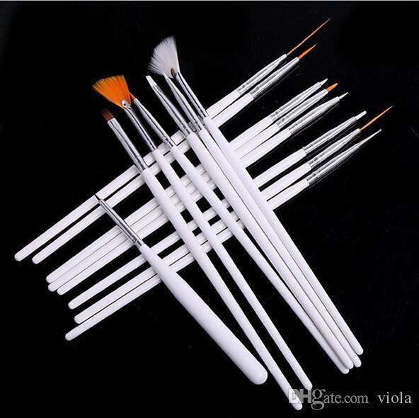 Maquillage Brosses Make up Brosses Professionnel Gel Polonais Peinture Nail Fleur Art Stylo Dotting Dessin Outil Pour Naturel Faux 3D Beauté