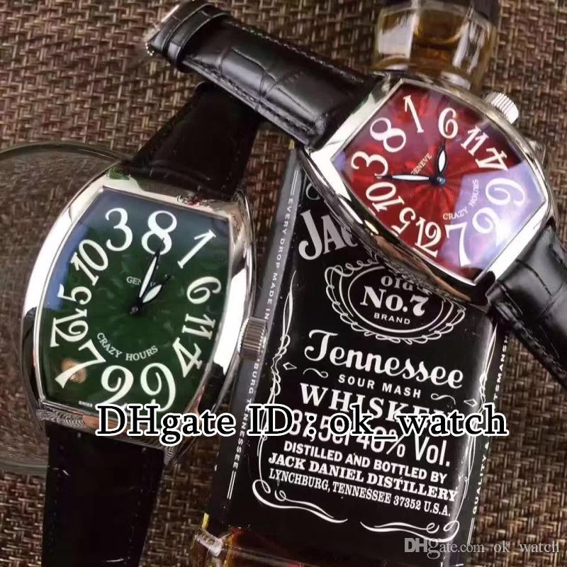Vendita CALDA! Alta qualità nuovo 8880 CH ACBL orologio automatico CRAZY OURS Large Size quadrante verde cinturino in pelle nera Orologi sportivi da uomo