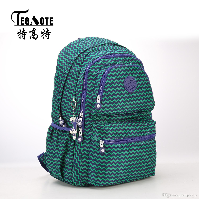 a06b6b332f8d TEGAOTE Light Nylon Waterproof Backpack for Teenage Girl Bookbag Mochila  Feminine Backpacks Women Leopard Pattern Travel Bagpack Nylon Backpack  Classic Big ...
