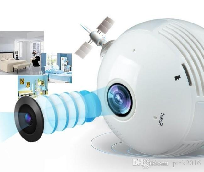 360 Degree Fisheye Panoramic WiFi P2P Network IP Camera Bulb Light Network CCTV Camera Home Security System 960P