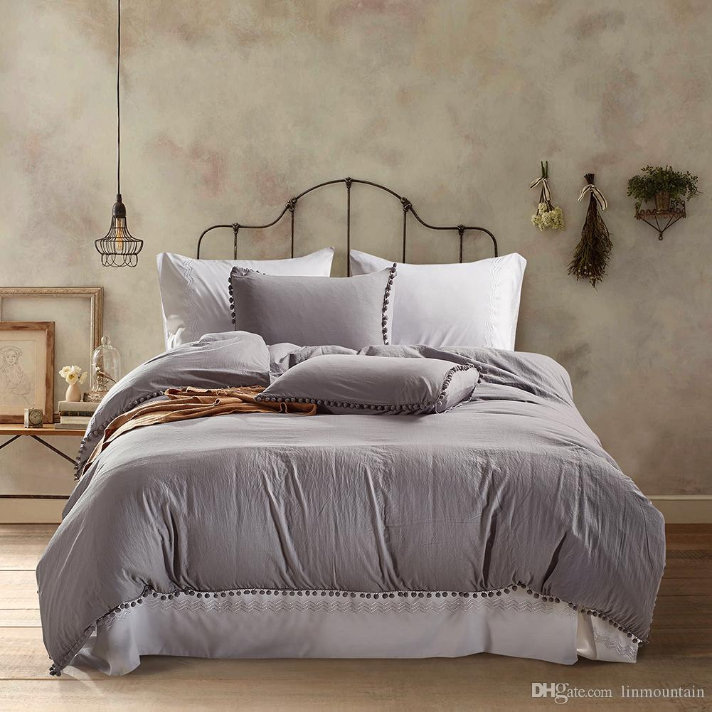 c7113100c46 Home Texitle New Bedclothes Tassel Bedding Set Twin Queen King Size ...