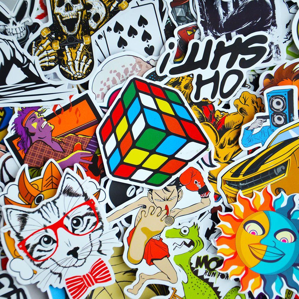 Pack Of Stickers Skateboard Snowboard Vintage Vinyl Sticker - Vinyl stickers for laptops