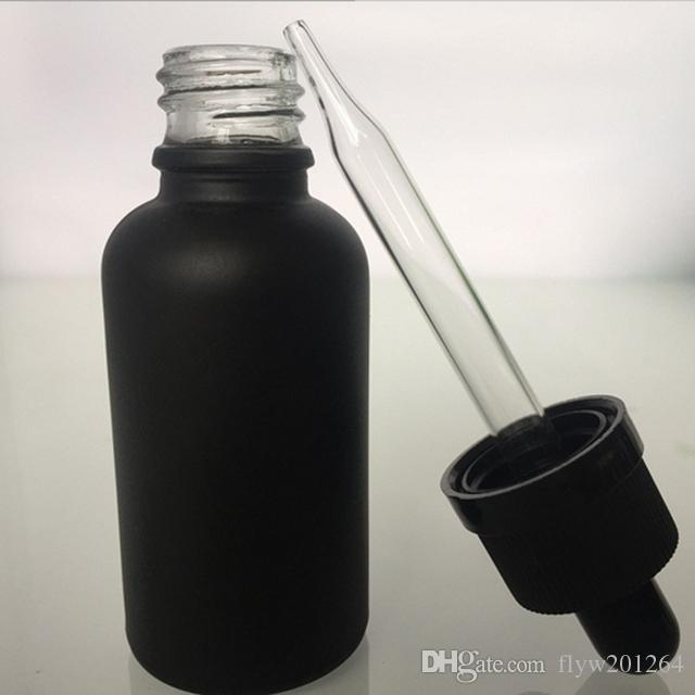 Nuovissimo 30 ml con contagocce bottiglia di olio essenziale contagocce bottiglia contagocce bottiglia di vetro nero smerigliato 30 ml