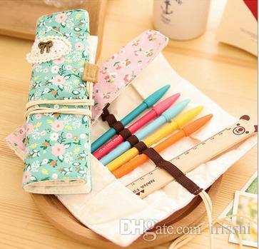 Doppelreißverschluss-Bleistifte Kleine pastellfarbene Schreibwaren-Tasche für den Schulbedarf