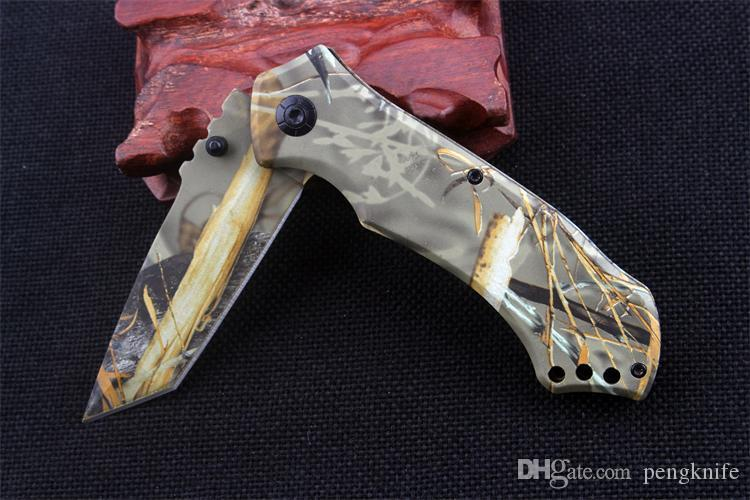 SıCAK JEF Mini sürüm açık katlanır bıçaklar Çok fonksiyonlu taktik kamp survival katlanır bıçak 3cr13 bıçak Alüminyum kolu