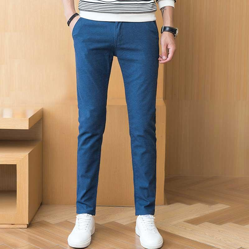 2019 Wholesale 2017 Autumn Casual Pants Men Chinos High Quality Flat Front  Slim Fit Cotton Long Trouser For Men Lake Blue Navy Blue Black Gray From  Amandal 6d3fae6d7