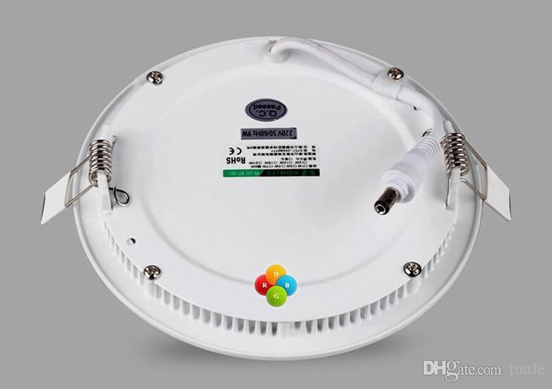 عكس الضوء جولة الصمام الاضواء لوحة 6W 9W 12W 15W 18W 21W 30W 4-5-6-7-8-9-12 بوصة راحة ضوء السقف LED