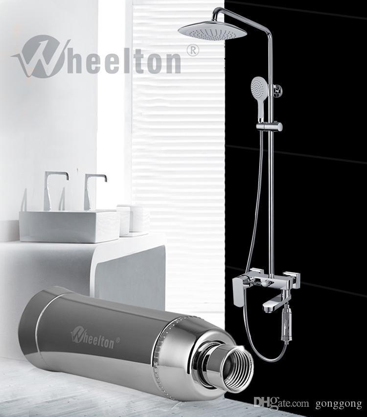 2017 новый бытовой воды очиститель фильтр дехлорирования кожи для купания душ фильтрации мягкой воды склад