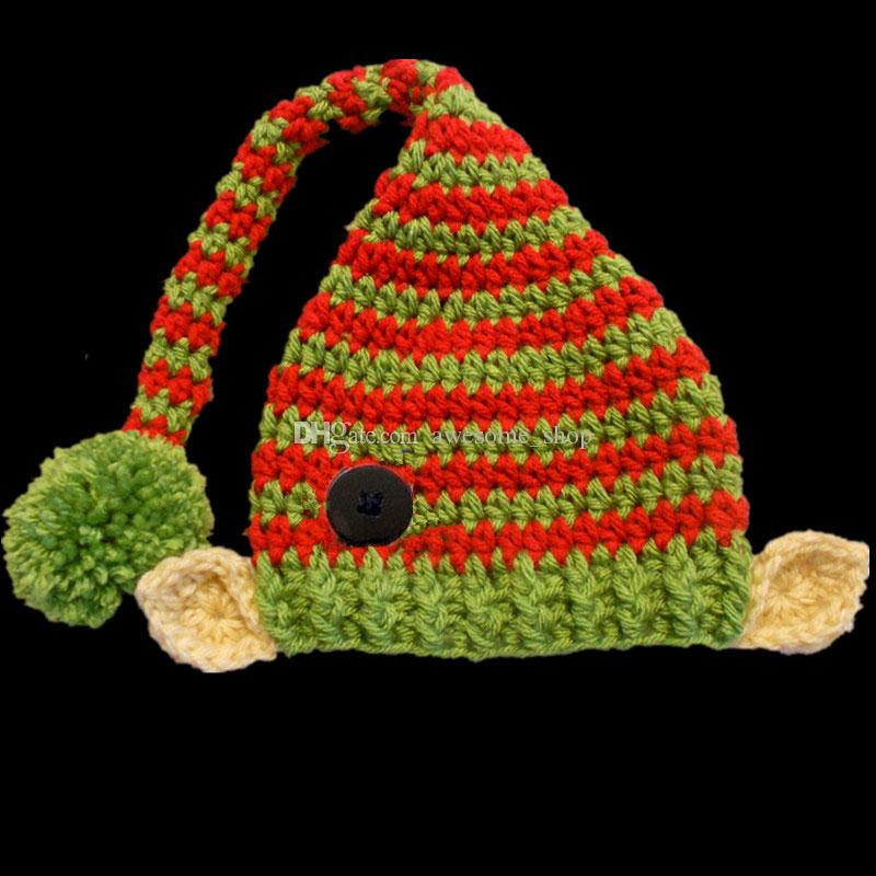 e9c43a3b1976 2019 Novelty Santa Elf Pom Pom Beanie With Ears
