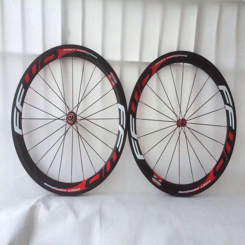 Basalt brake surface FFWD wheels F6R 50mm wheelset with Powerway ceramic bearing carbon hubs full carbon road bicycle bike wheels